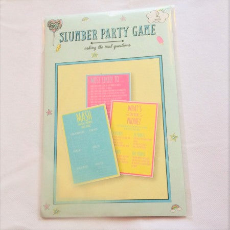 "Sleepover ""Slumber Party"" Game"