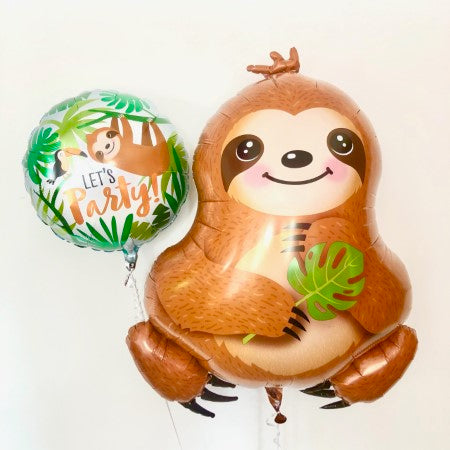 Sloth Foil Balloons Helium Inflation for collection Ruislip I My Dream Party Shop