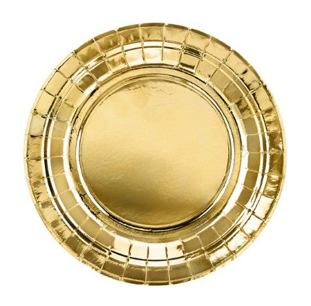 Small Gold Foil Party Plates I Gold Tableware I My Dream Party Shop I UK
