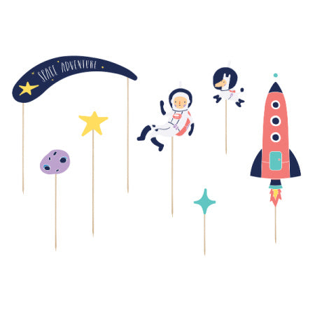Space Party Cake Toppers I Cool Cake Accessories I My Dream Party Shop I UK