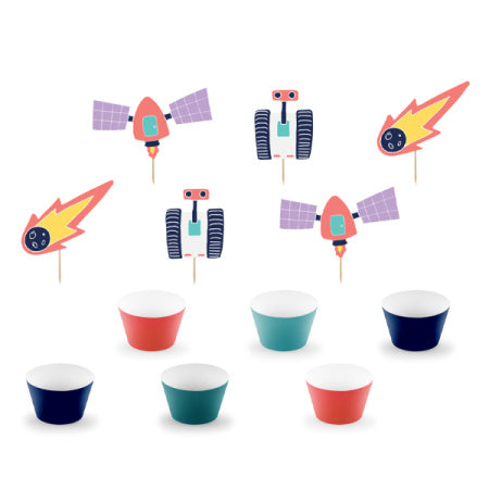 Space Cupcake Kit I Cool Cake Accessories I My Dream Party Shop I UK