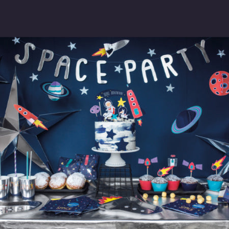 "Silver ""Space"" Party Banner I My Dream Party Shop I UK"