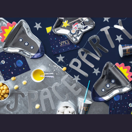 "Silver ""Space"" Party Garland I My Dream Party Shop I UK"