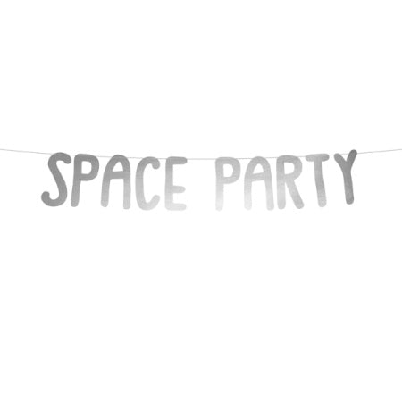 "Silver Mirror ""Space"" Party Banner I My Dream Party Shop I UK"