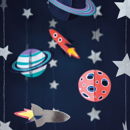 Space Party Planets and Rockets Hanging Decorations I My Dream Party Shop I UK