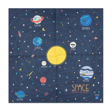 Space Navy Party Napkins I Space Tableware I My Dream Party Shop I UK