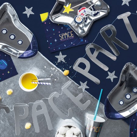 Space Rocket Shaped Party Plates I Space Party Supplies I My Dream Party Shop I UK