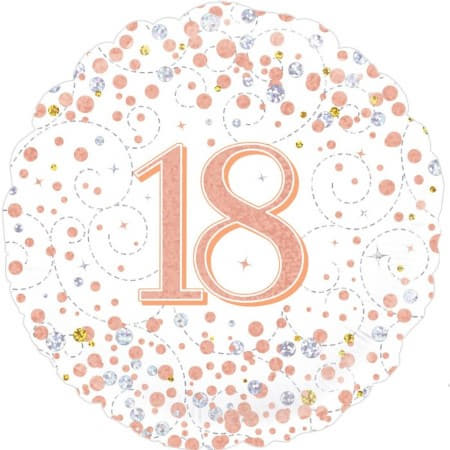 Sparkling Fizz 18th Birthday White and Rose Gold I 18th Birthday Party I My Dream Party Shop UK