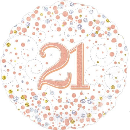 Sparkling Fizz 21st Birthday White and Rose Gold I 21st Birthday Party I My Dream Party Shop UK