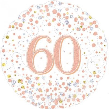 Sparkling Fizz 60th Birthday White and Rose Gold I 60th Birthday Party I My Dream Party Shop