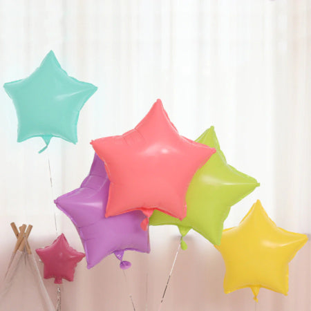 Candy Macaroon Star Foil Balloons x 10 I Cool Foil Balloons I My Dream Party Shop I UK