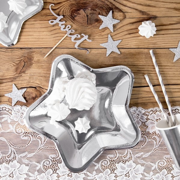Silver Star Table Decorations - My Dream Party Shop