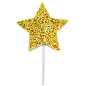 Star Gold Glitter Canapé or Cake Topper - My Dream Party Shop