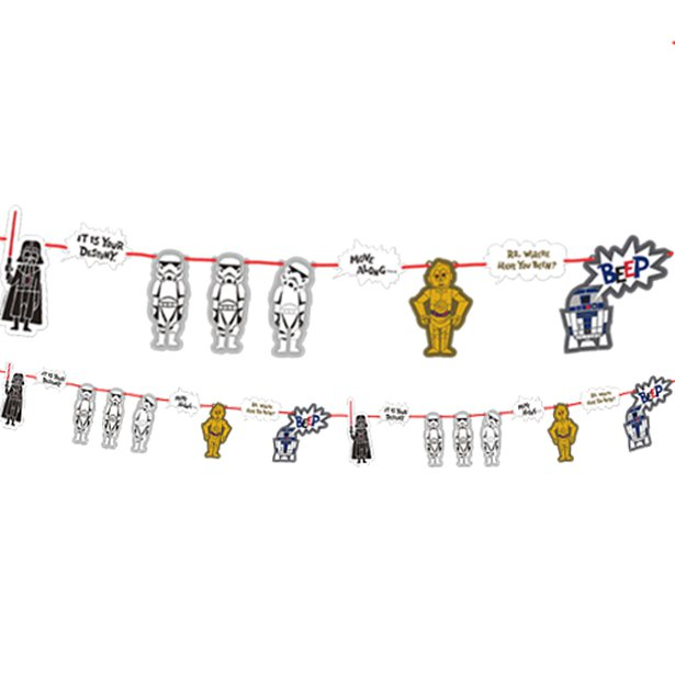 Star Wars Garland I Cool Star Wars Party Theme Decorations & Tableware I My Dream Party Shop I UK
