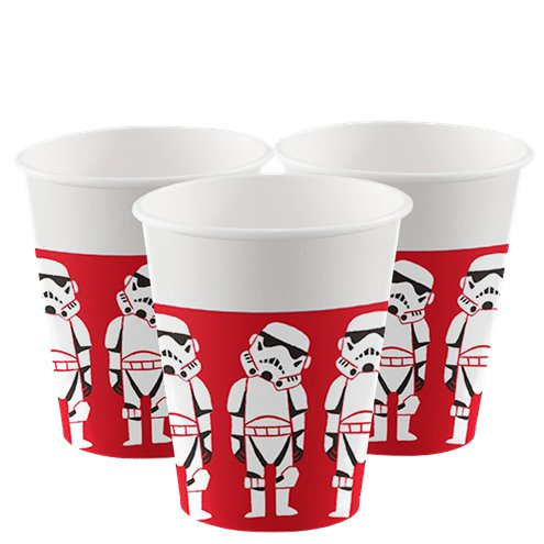 Star Wars Cartoon Storm Trooper Cups I Modern Star Wars Party Theme Decorations & Tableware I My Dream Party Shop I UK