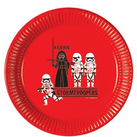 Star Wars Cartoon Storm Trooper Round Plates I Star Wars Cool Party Tableware & Decorations I My Dream Party Shop I UK