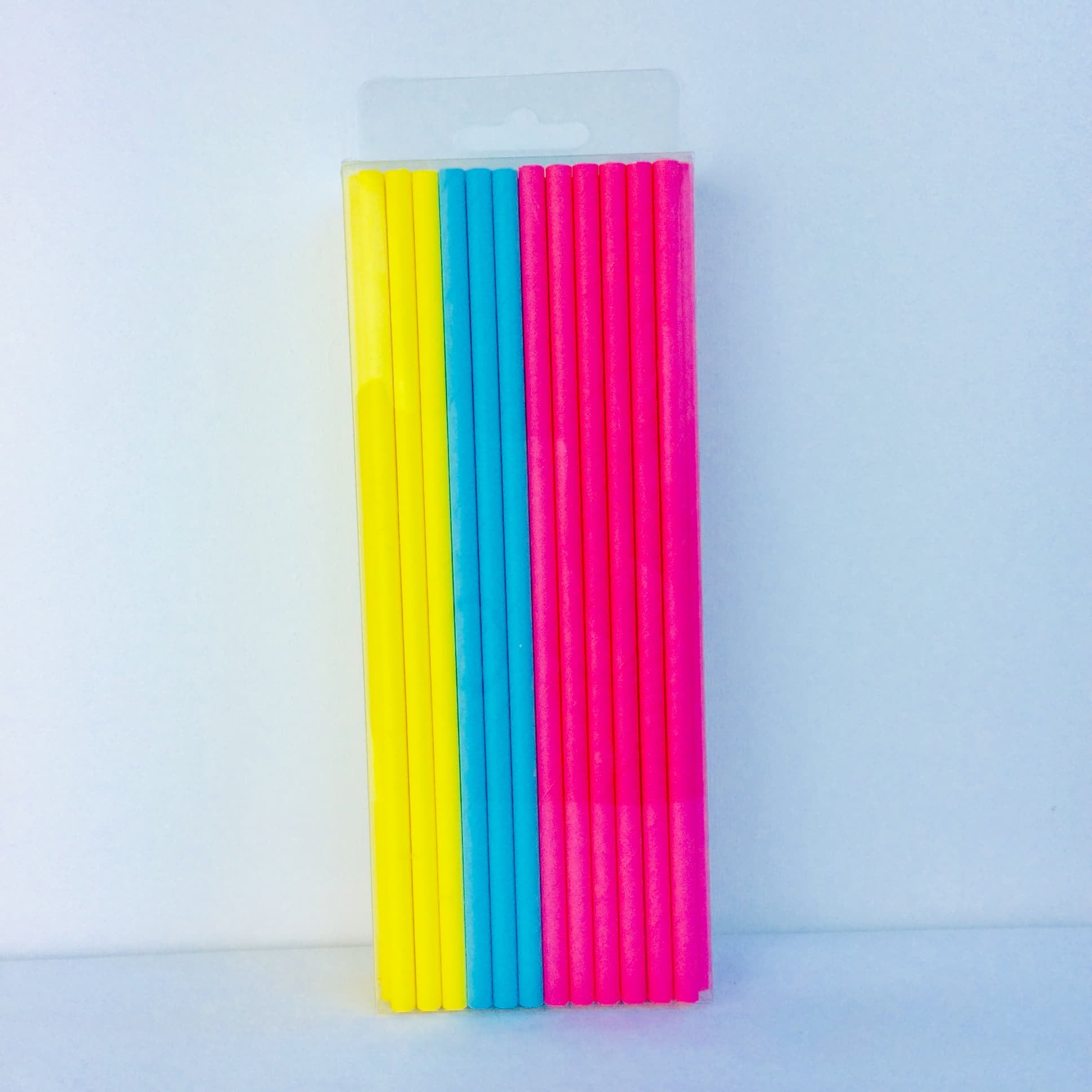 Summer Yellow, Pink and Blue Paper Straws I Cool Party Tableware I My Dream Party Shop UK