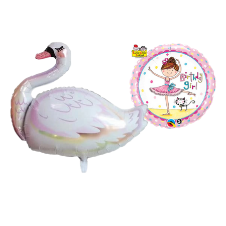 Ballerina Helium Foil Balloon (Helium Inflated for Collection)