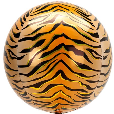 Metallic Tiger Print Orbz Balloon I Jungle Party Supplies I My Dream Party Shop UK