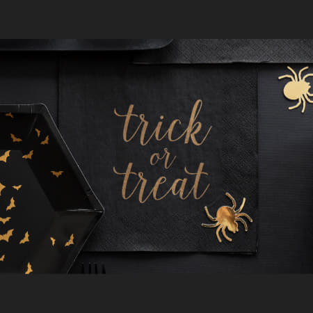 Trick or Treat Black Napkins I Modern Halloween Party Supplies I My Dream Party Shop I UK