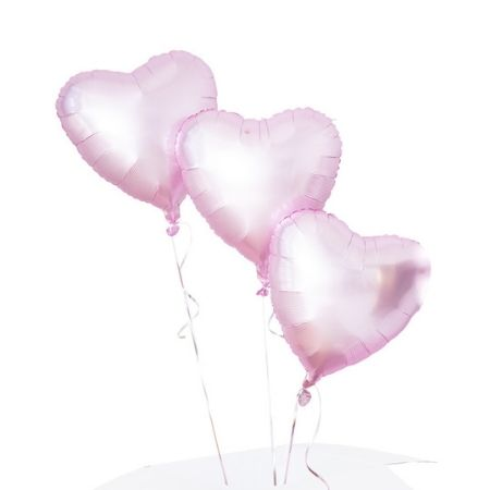 Pale Pink Heart Balloon Cluster I Helium Balloons for Collection Ruislip I My Dream Party Shop