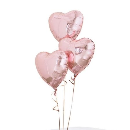 Rose Gold Heart Balloon Cluster I Helium Inflated for Collection Ruislip I My Dream Party Shop