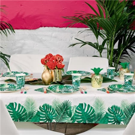 Tropical Fiesta Palm Leaves Tablecover I Talking Tables Tropical Party I My Dream Party Shop I UK