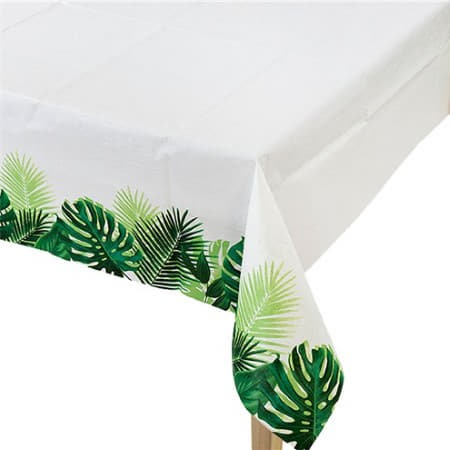 Tropical Fiesta Palm Leaf Table Cover I Tropical Party Tableware I My Dream Party Shop I UK