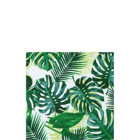 Tropical Fiesta Palm Leaves Cocktail Napkins I Tropical Party Tableware I My Dream Party Shop I UK