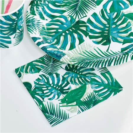 Tropical Fiesta Palm Leaves Cocktail Napkins I Talking Tables Tropical Party I My Dream Party Shop I UK
