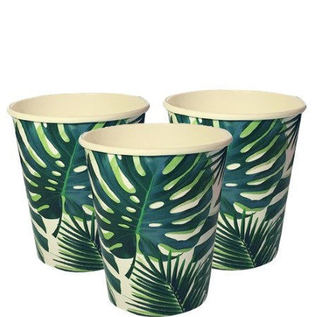 Tropical Fiesta Palm Leaves Cups I Tropical Party I My Dream Party Shop I UK