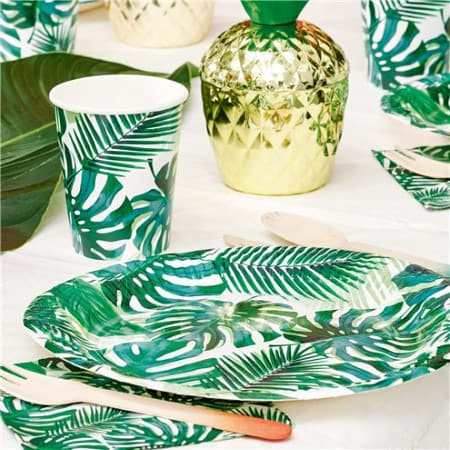 Tropical Fiesta Palm Leaf Cups I Tropical Party Tableware I My Dream Party Shop I UK
