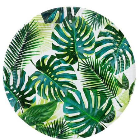 Tropical Palm Leaf Party Plates I Tropical Party I My Dream Party Shop I UK