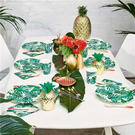 Tropical Fiesta Palm Leaves Plates I Tropical Fiesta Party I My Dream Party Shop I UK