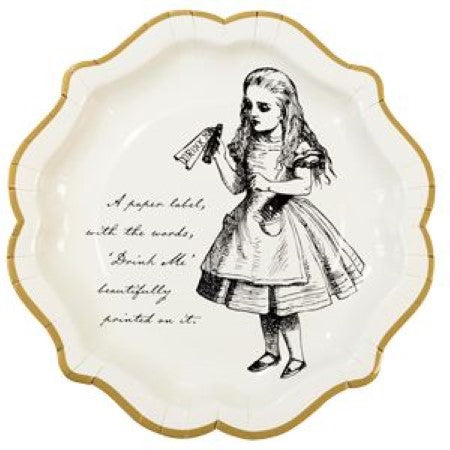 Truly Alice Large Plates I Alice in Wonderland Party I My Dream Party Shop