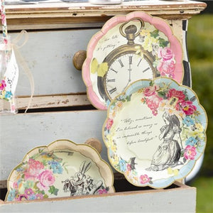 Truly Alice Small Paper Plates I Talking Tables I Alice in Wonderland Party Tableware & Decorations I My Dream Party Shop I UK