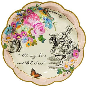 Truly Alice Small Paper Plates I Talking Tables I Alice in Wonderland Party Tableware & Supplies I My Dream Party Shop I UK