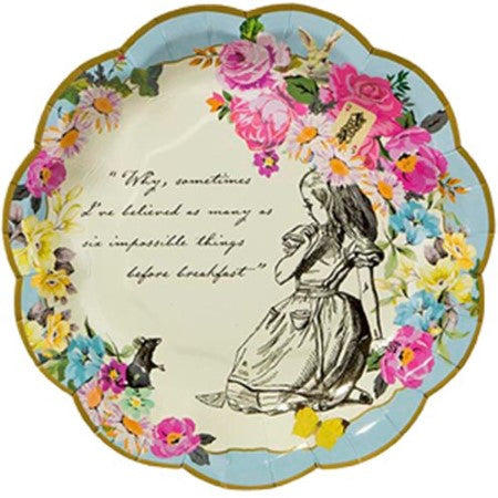 Truly Alice Small Paper Plates I Alice in Wonderland Party I My Dream Party Shop