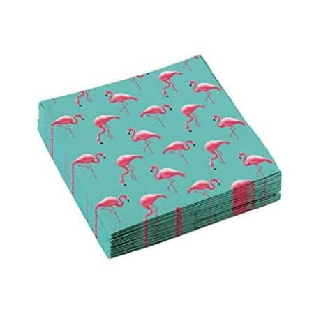 Turquoise Flamingo Paradise Napkins I Flamingo Party Tableware I My Dream Party Shop UK