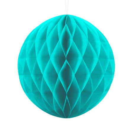 Turquoise Honeycomb Ball I Modern Party Decorations I My Dream Party Shop I UK