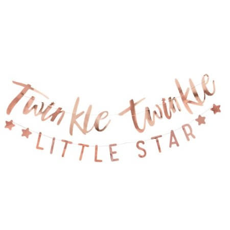 Twinkle Twinkle Little Star Gold Foil Garland I Ginger Ray I Baby Shower or First Birthday Party Tableware I My Dream Party Shop I UK