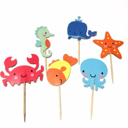 Under the Sea Fish Cake Toppers I Under the Sea Party Decorations & Balloons I My Dream Party Shop I UK