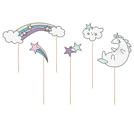 Unicorn Make A Wish Cake Toppers - My Dream Party Shop