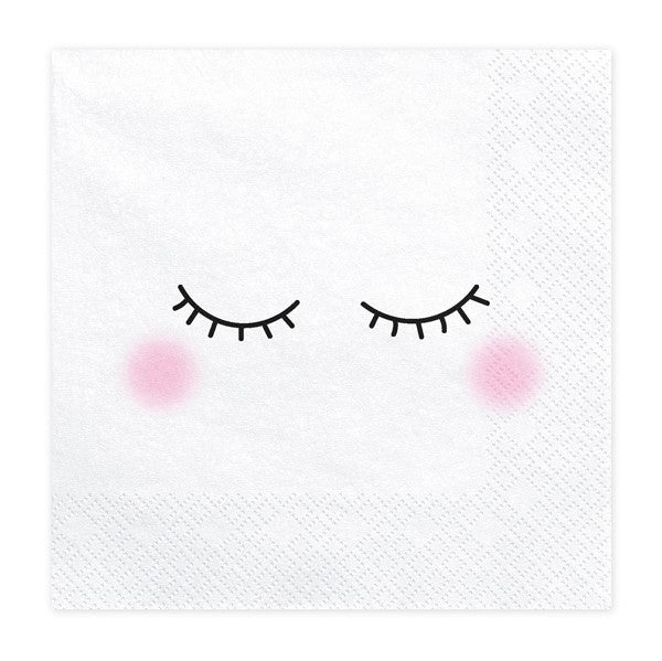 Unicorn Faces Napkins - Make a Wish Unicorn Party Collection - My Dream Party Shop