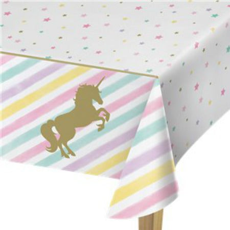 Unicorn Sparkle Plastic Tablecover - 1.3m x 2.6m - My Dream Party Shop