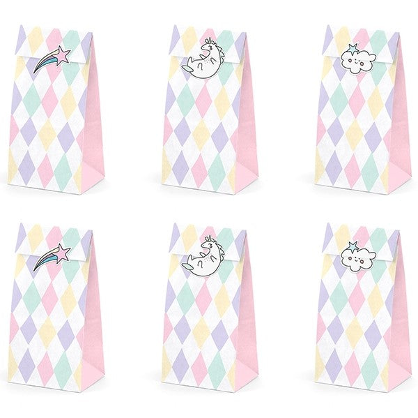 Unicorn Treat Favour Bags Make a Wish - My Dream Party Shop