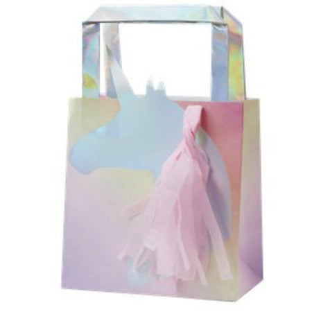 Unicorn Wishes Iridescent Unicorn Tassel Party Bags - 26cm - My Dream Party Shop