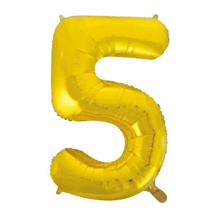 Gigantic Gold Foil Number Balloons 34 Inches I Number Five Balloon I My Dream Party Shop UK