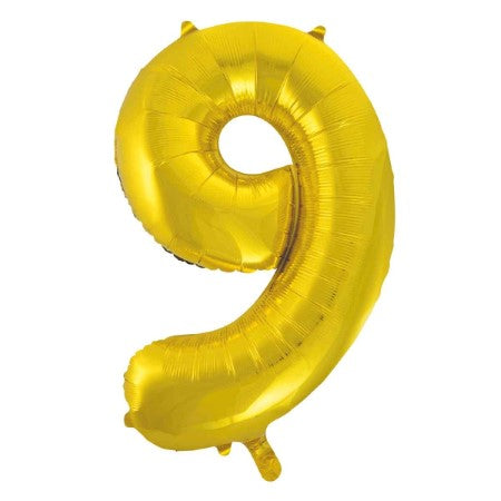 Gigantic Gold Foil Number Balloons 34 Inches I Number Nine Balloon I My Dream Party Shop UK