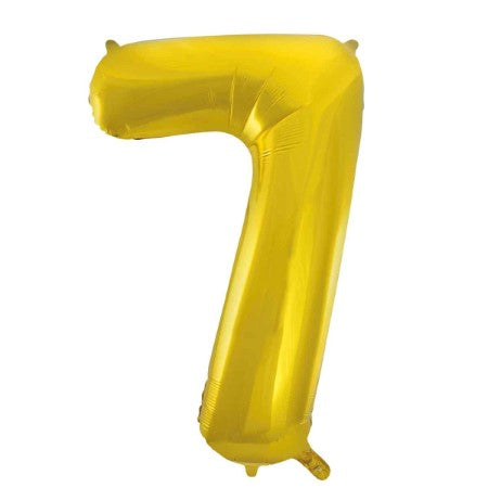 Gigantic Gold Foil Number Balloons 34 Inches I Number Seven Balloon I My Dream Party Shop UK